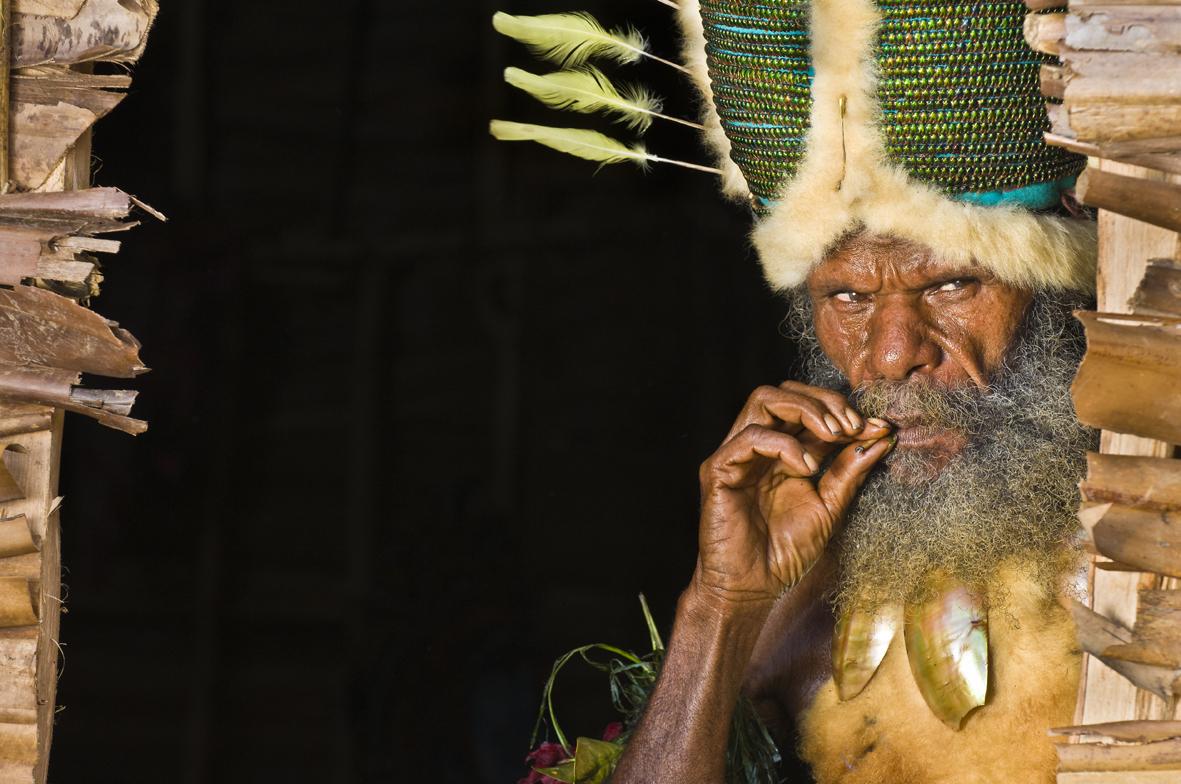 Papouasie-Nouvelle-Guinée, Province de Madang, Région de Simbai, Simbai Station, Lieu-dit Mantangap, James Samson